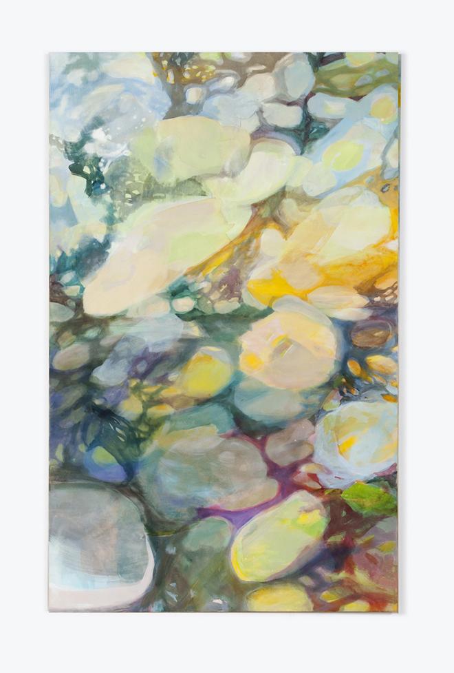 lyrisch abstract kleurrijk schilderij. Kunstwerk over het universum en liefde