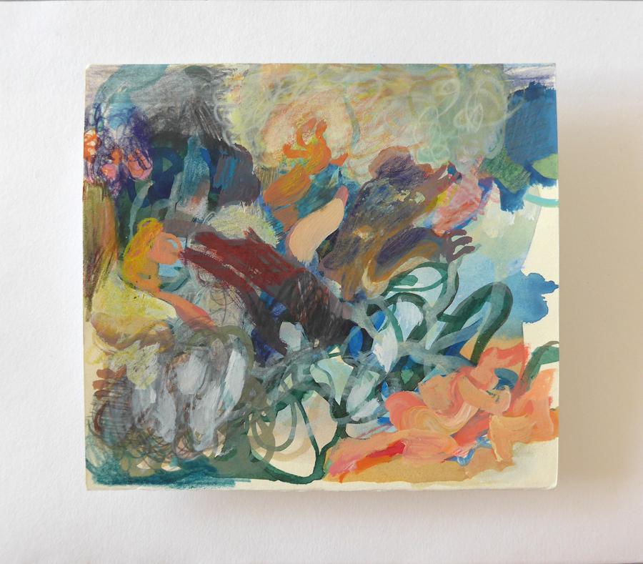 kleurrijk abstract kunstwerk